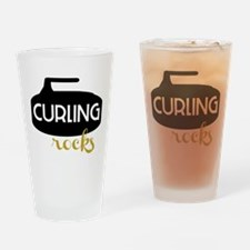 Curling Rocks Drinking Glass