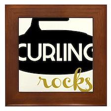 Curling Rocks Framed Tile