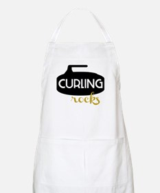 Curling Rocks Apron
