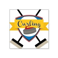 Curling Logo Sticker