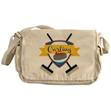 Curling Logo Messenger Bag
