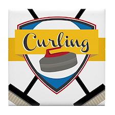 Curling Logo Tile Coaster
