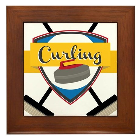 Curling Logo Framed Tile