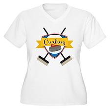 Curling Logo Plus Size T-Shirt