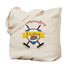 Championship Curling Tote Bag
