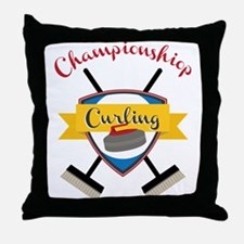 Championship Curling Throw Pillow