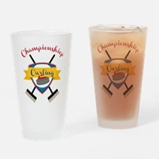 Championship Curling Drinking Glass
