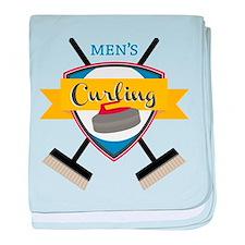 Men's Curling baby blanket