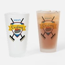 Men's Curling Drinking Glass