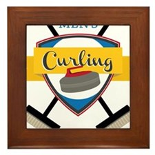 Men's Curling Framed Tile