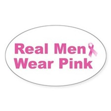 Real Men Wear Pink Oval Decal