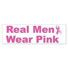 Real Men Wear Pink Bumper Bumper Sticker