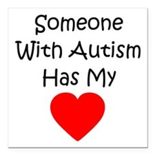 """Someone With Autism Square Car Magnet 3"""" x 3&"""