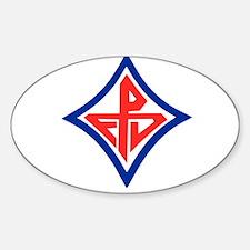 FD Logo Oval Decal