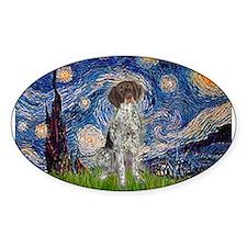 Starry Night /German Short Bumper Stickers