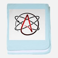 Modern Atheist Atomic Color baby blanket