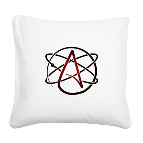 Modern Atheist Atomic Color Square Canvas Pillow