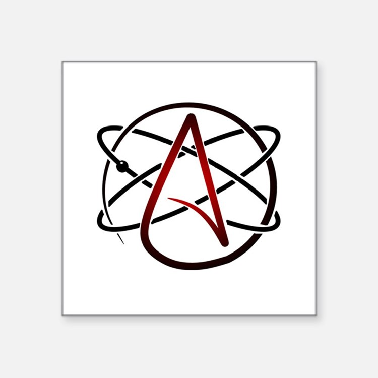 Modern Atheist Atomic Color Sticker