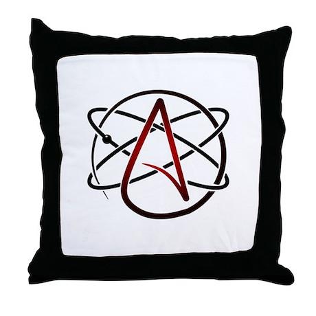 Modern Atheist Atomic Color Throw Pillow