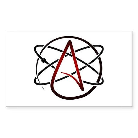 Modern Atheist Atomic Color Sticker