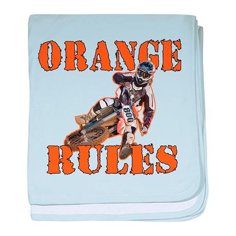 Orange Rules baby blanket