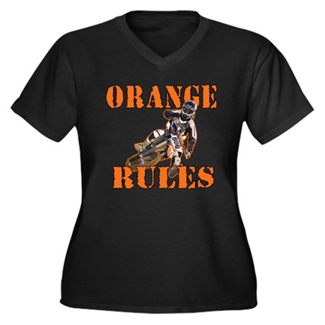 Orange Rules Plus Size T-Shirt