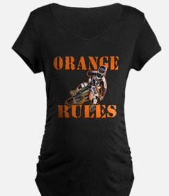 Orange Rules Maternity T-Shirt