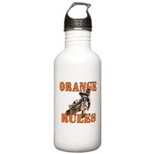 Orange Rules Water Bottle