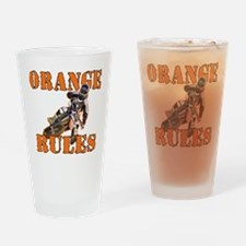 Orange Rules Drinking Glass