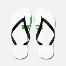 Pretty green christian cross 1 L a Flip Flops