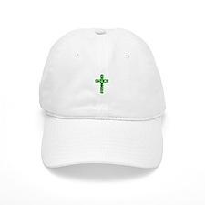 Pretty green christian cross 1 L a Baseball Baseball Cap