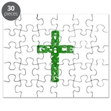 Pretty green christian cross 1 L a Puzzle
