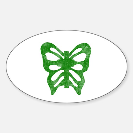 Pretty green christian cross 1 L h Decal