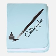 Calligrapher baby blanket