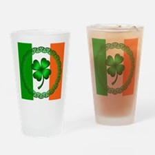 Flag and Clover Drinking Glass