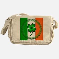 Flag and Clover Messenger Bag