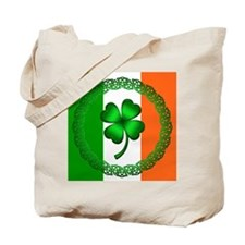 Flag and Clover Tote Bag
