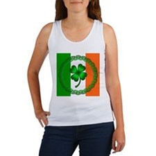 Flag and Clover Women's Tank Top
