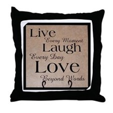 Live, Laugh, Love Throw Pillow