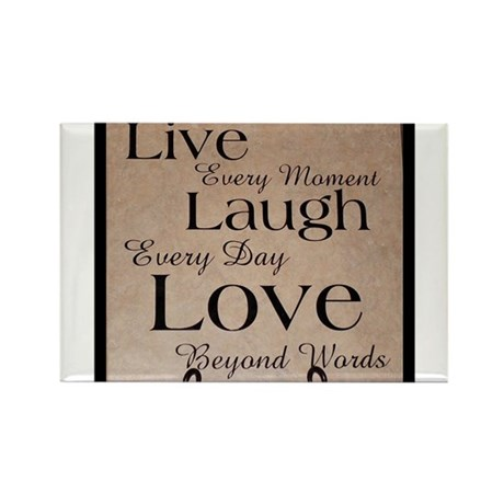Live, Laugh, Love Rectangle Magnet