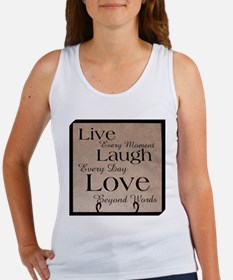Live, Laugh, Love Tank Top