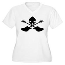 Skull and Bass Guitar Black T-Shirt
