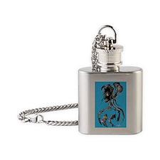 blue Flask Necklace