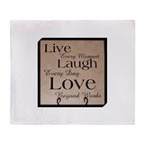 Live laugh love Fleece Blankets