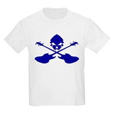 Skull and Bass Guitar Blue T-Shirt