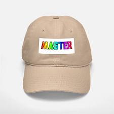 MASTER RAINBOW TEXT Baseball Baseball Cap