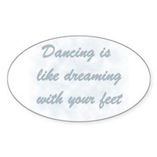 Dancing is like... Rectangle Decal