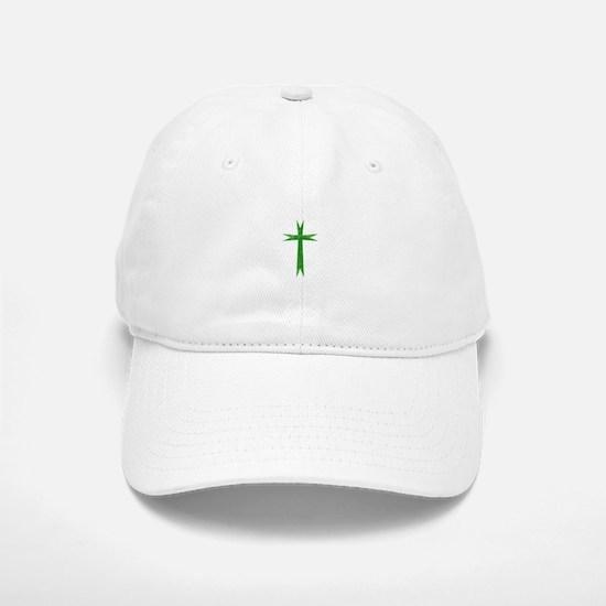 Pretty green christian cross 1 U K Baseball Baseball Baseball Cap