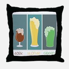 Dark - Blonde - Green Throw Pillow