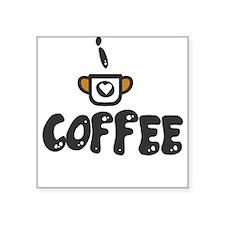 I Love Coffe Sticker